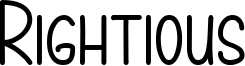 Rightious Font