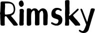 Rimsky Font
