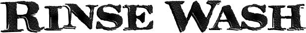 Rinse Wash Font