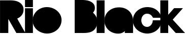 Rio Black Font
