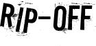 Rip-off Font