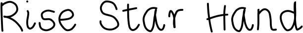 Rise Star Hand Font