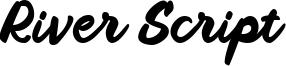 River Script Font