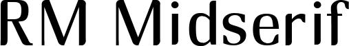 RM Midserif Font