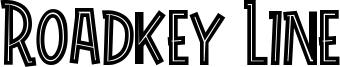 Roadkey Line Font