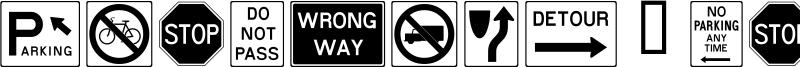 RoadSign + Warning Font
