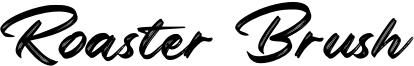 Roaster Brush Font