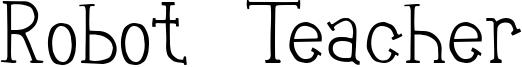 Robot Teacher Font