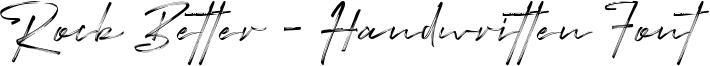 Rock Better - Handwritten Font Font