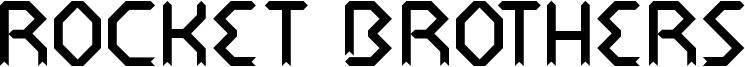 Rocket Brothers Font