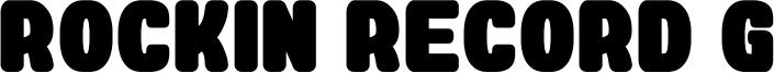 Rockin Record G Font