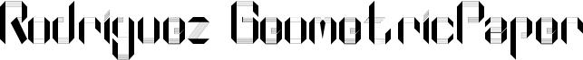 Rodriguez GeometricPaper Font