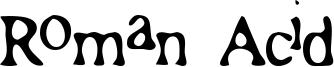 Roman Acid Font
