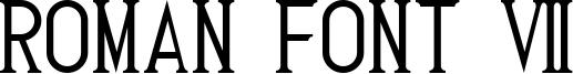 Roman Font 7 Font
