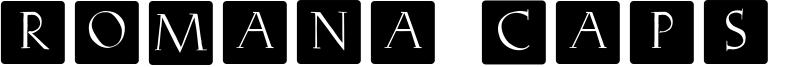 Romana Caps Classic Squares Font