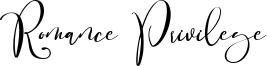 Romance Privilege Font