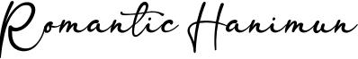 Romantic Hanimun Font