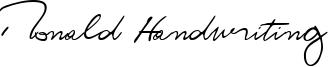 Ronald Handwriting Font