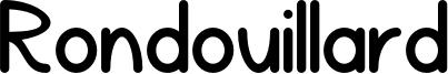 Rondouillard Font