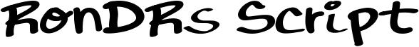 RonDRs Script Font
