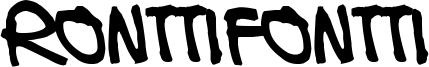 Ronttifontti Font