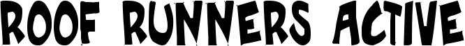 Roof Runners Active Font