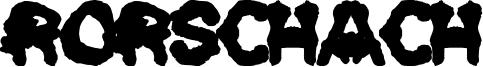 Rorschach Font