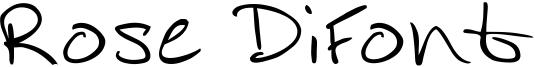 Rose DiFont Font