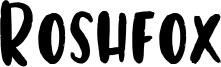 Roshfox Font