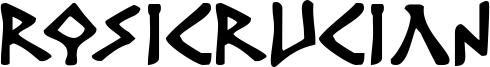 Rosicrucian Font