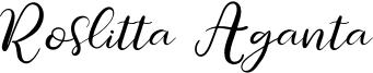 Roslitta Aganta Font