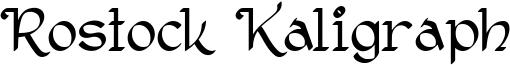 Rostock Kaligraph Font