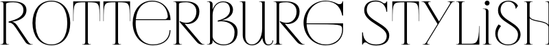 Rotterburg Stylish Font