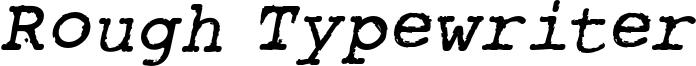 rough_typewriter-bld-itl.otf