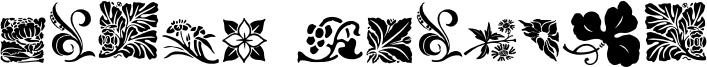 Rough Flowers Font