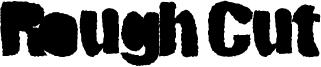 Rough Cut Font
