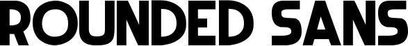 Rounded Sans Font