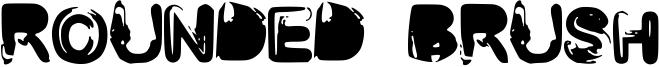 Rounded Brush Font
