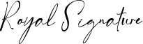 Royal Signature Font
