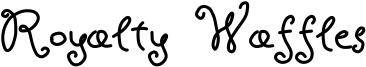 Royalty Waffles Font