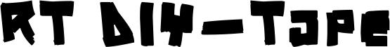 RT DIY-Tape Font