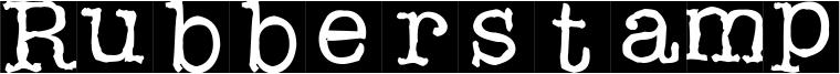 Rubberstamp Font