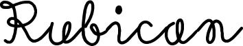 Rubican Font