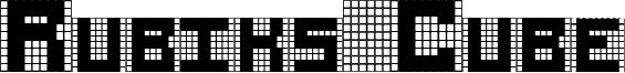 Rubiks Cube Font