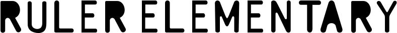 Ruler Elementary Font