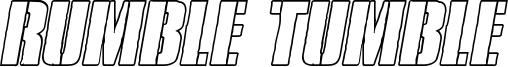 Rumble Tumble Font