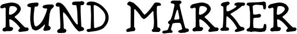 Rund Marker Font
