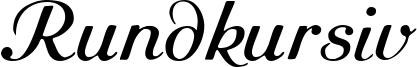 Rundkursiv Font