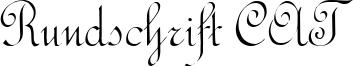 Rundschrift CAT Font