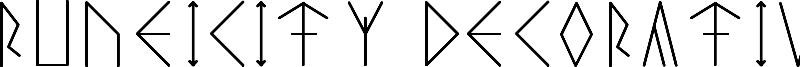Runeicity Decorative Font